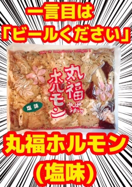 丸福ホルモン 「塩味」 300g(冷凍)